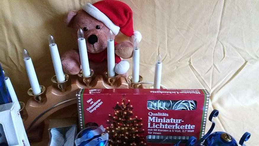 Bild 3: weihnachtliche dekoration in blau