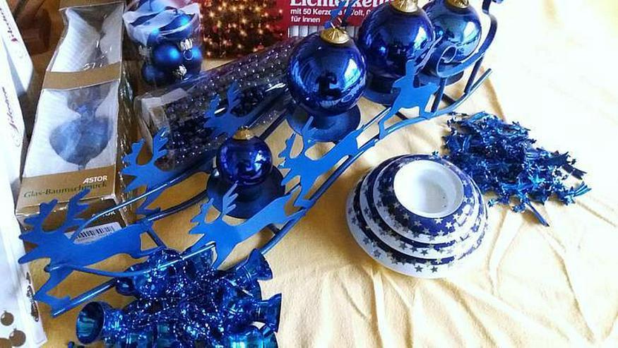 Bild 4: weihnachtliche dekoration in blau