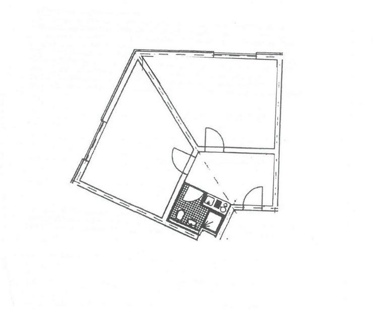 Bild 3: Gemütliche 2 Zimmerwohnung in Mittweida mit einer Singleküche versehen