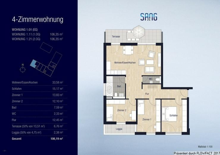 Bild 13: Sang ONE - Moderne 4-Zimmer-Wohnung mit Loggia, Terrasse und Gäste-WC