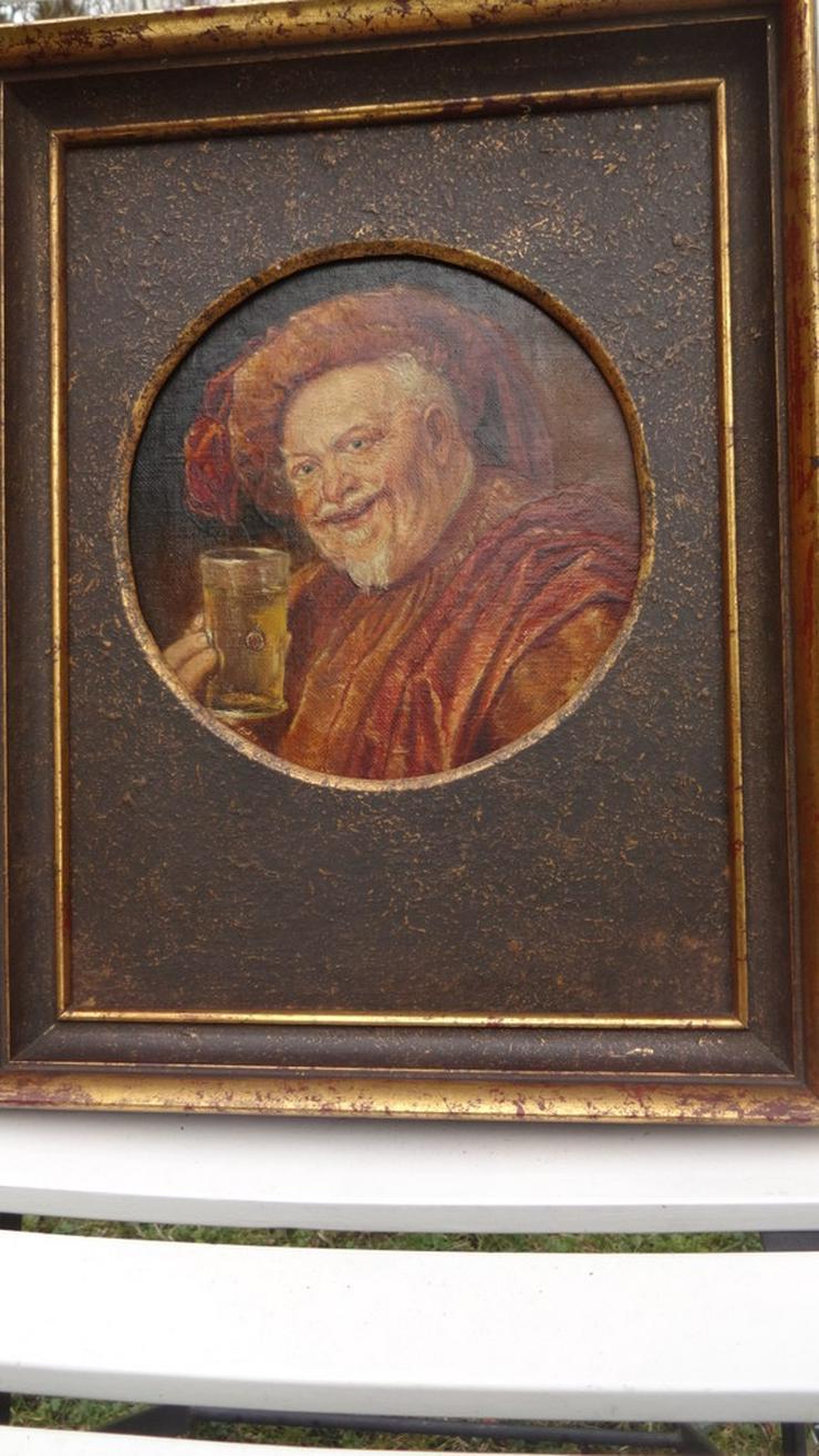 Trinkender Mönch / Abt - Gemälde & Zeichnungen - Bild 1