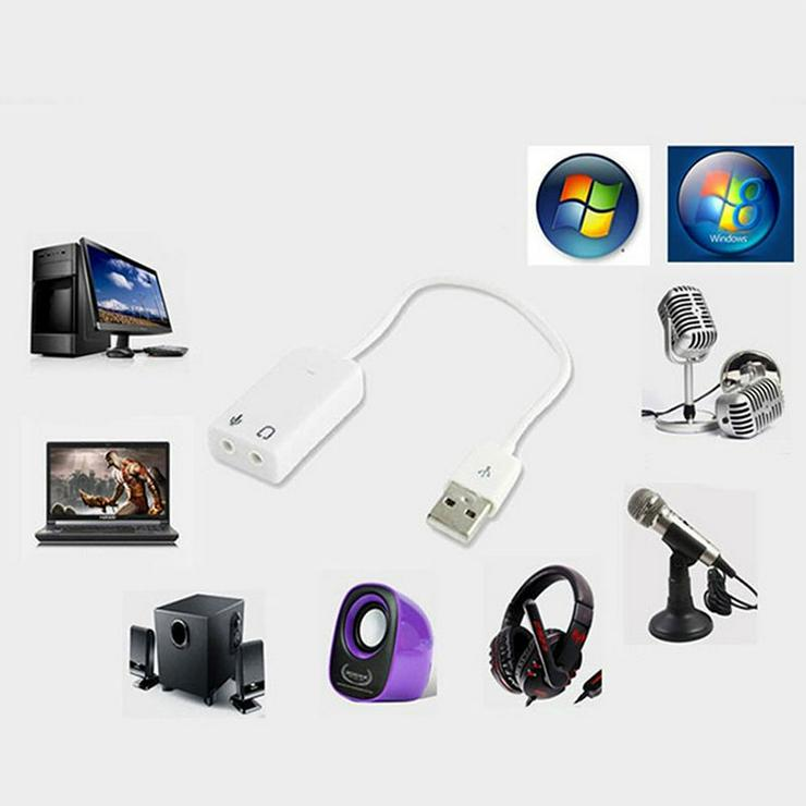 USB Audio Soundkarte 7.1 Adapter Extern 3D Sou.