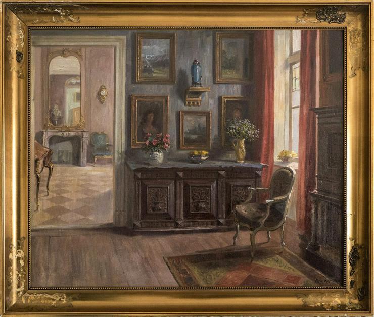 Gemälde ROBERT PANITZSCH (1879), Saloninterieur