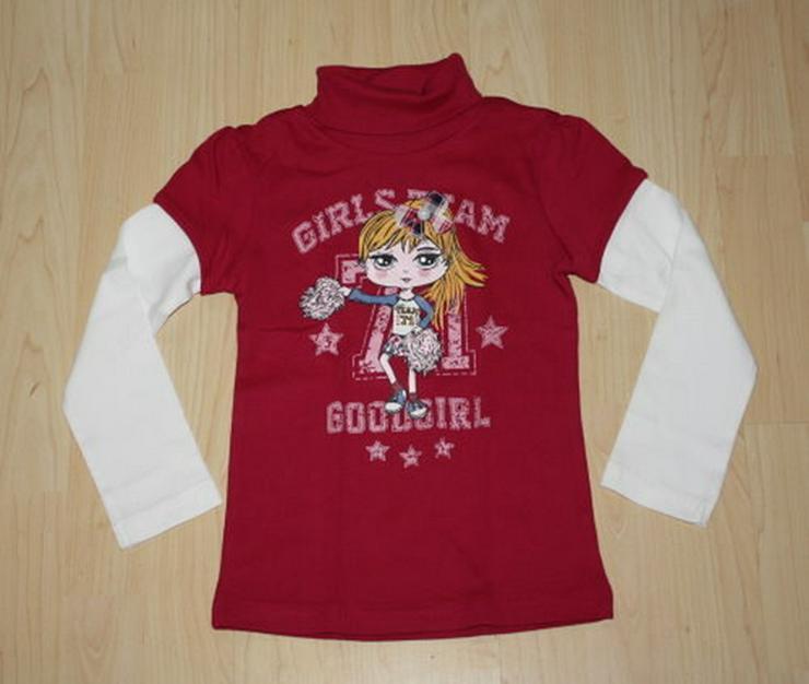Mädchen Rollkragen Pullover Shirt Pulli 110