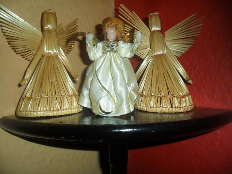3 Stroh Weihnachtsengel