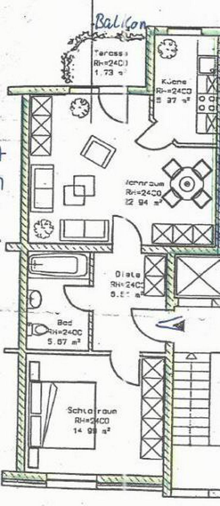 Bild 2: Toll geschnittene 2-Zimmer-Wohnung mit Aufzug und Balkon! TG-Stellplatz und Prov-Frei!