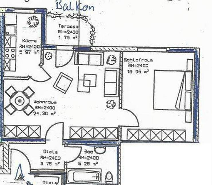 Vermietete ETW mit Fahrstuhl, TG-Stellplatz und Balkon - Prov.-Frei! - Bild 1
