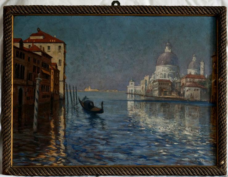 Gemälde WALDEMAR BLOHM (1874), Venedig um 1900!