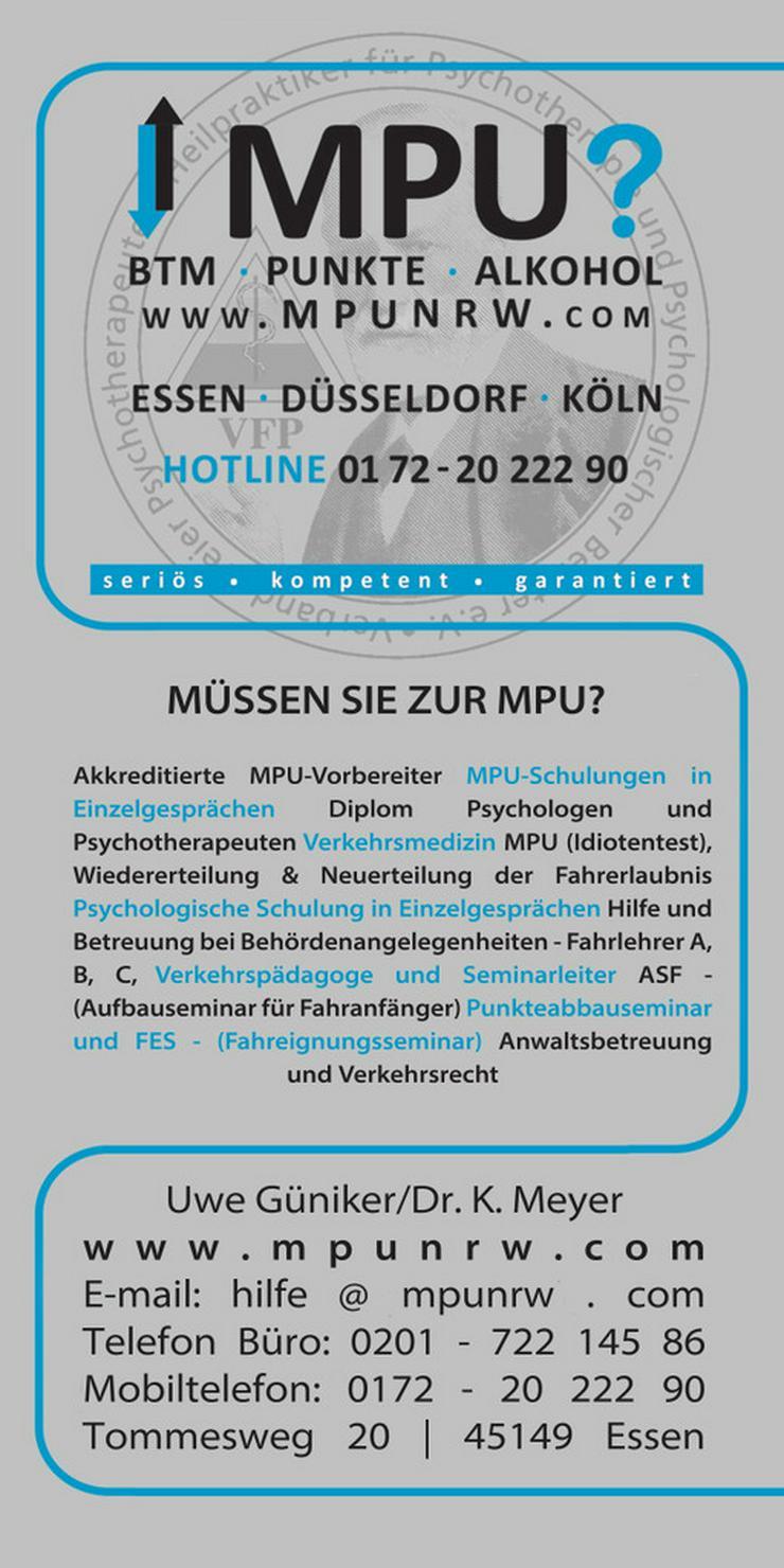 MPU Vorbereitung Hilfe BTM Führerschein zurück