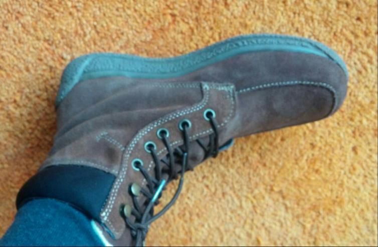 Damen Stiefeletten Wild Leder Boots Gr.38 - Größe 38 - Bild 6
