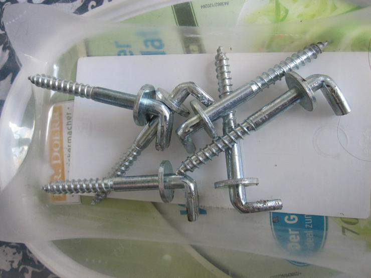 6 Wandhaken für Hängeschränke Schraube