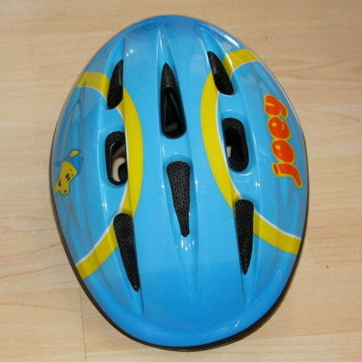 Bild 3: Hudora Kinder Fahrradhelm Schutzhelm blau 52-54
