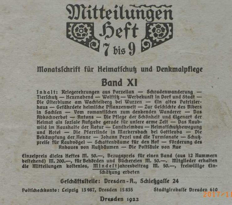 Bild 2: Monatsschrift für Heimat u. Denkmalpflege