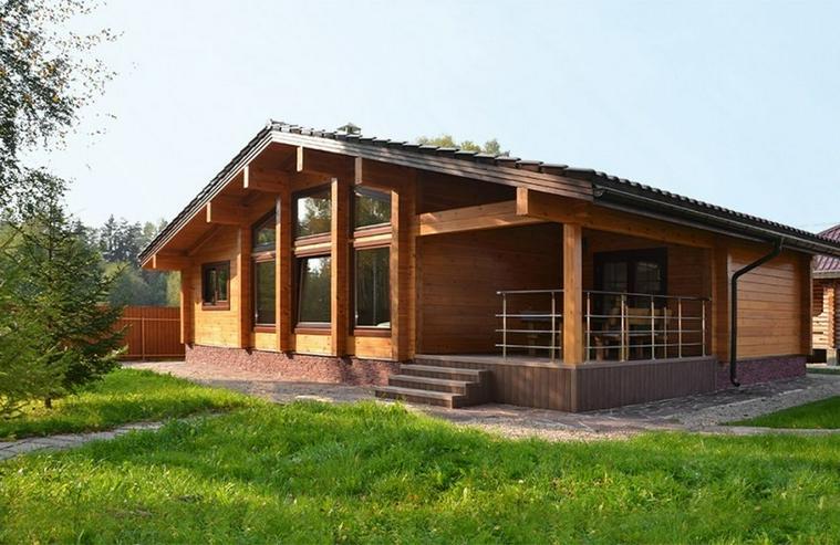 Blockbohlenhaus Aue 93 m2 - Bild 1