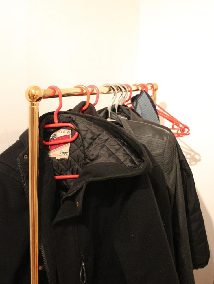 2 Stück goldfarbene Kleiderständer, freistehend - Bild 1