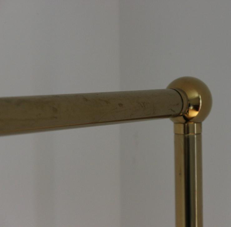 Bild 3: 2 Stück goldfarbene Kleiderständer, freistehend
