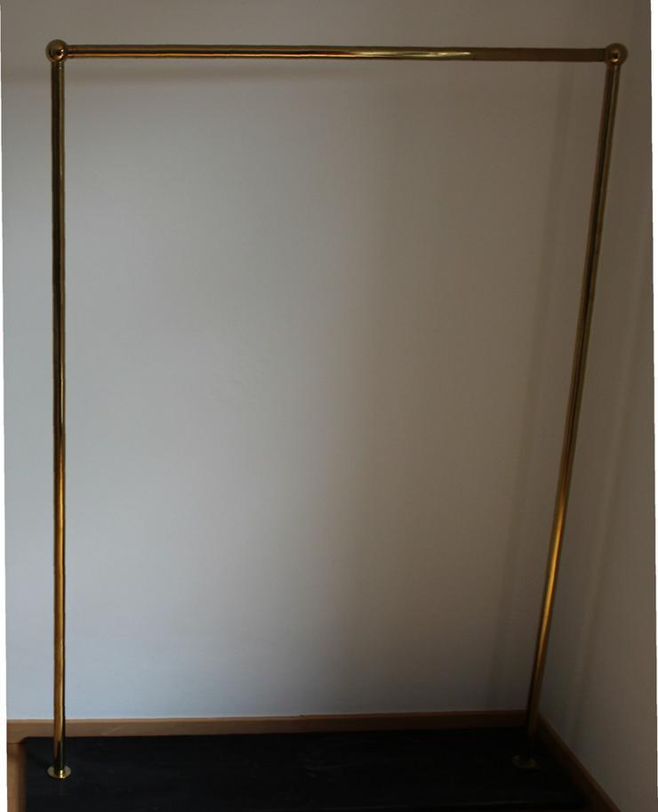 Bild 4: 2 Stück goldfarbene Kleiderständer, freistehend