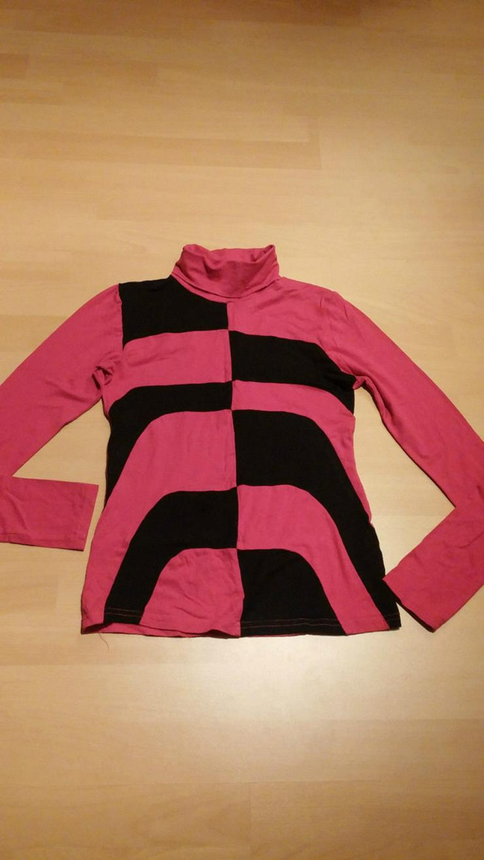Damen Pullover Shirt Gr.34 in Rot-Schwarz