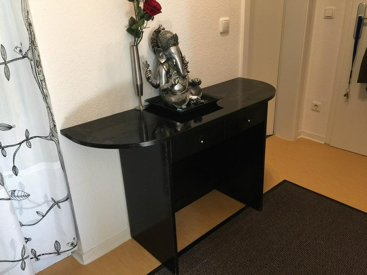 Kleiner Kosmetik- oder Schreibtisch Schwarz