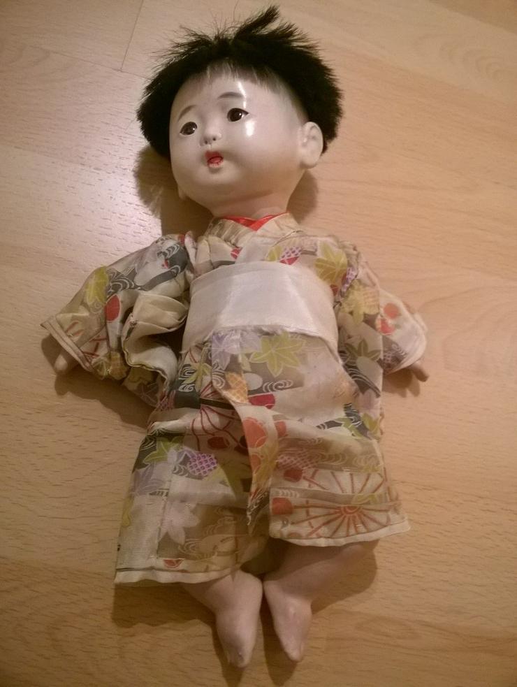 2 x antike Ichimatsu Ningyo Puppe - Bild 1