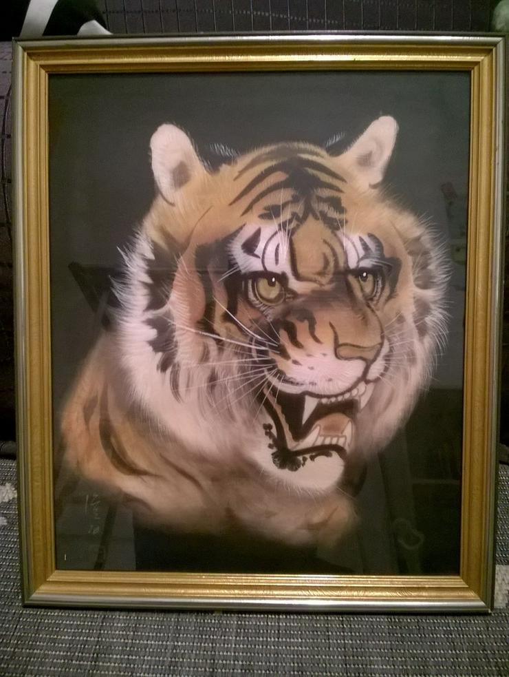 handgemaltes Bild TIGER, Japan - Gemälde & Zeichnungen - Bild 1