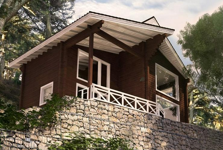 Blockbohlenhaus Aisha 131 m2 - Haus kaufen - Bild 1