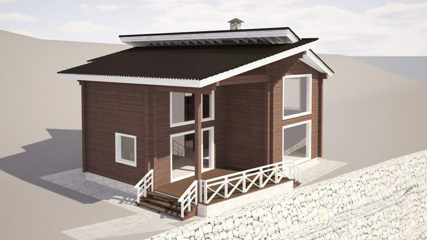 Bild 2: Blockbohlenhaus Aisha 131 m2