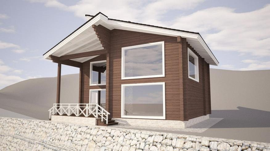 Bild 3: Blockbohlenhaus Aisha 131 m2