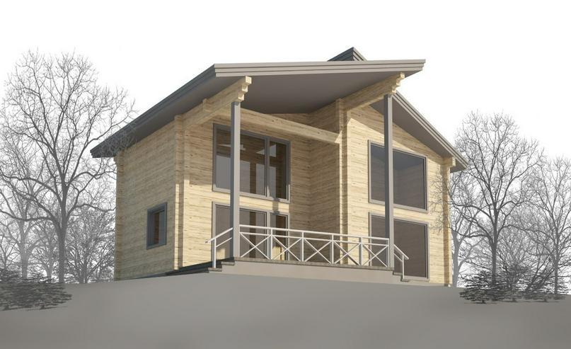 Bild 6: Blockbohlenhaus Aisha 131 m2