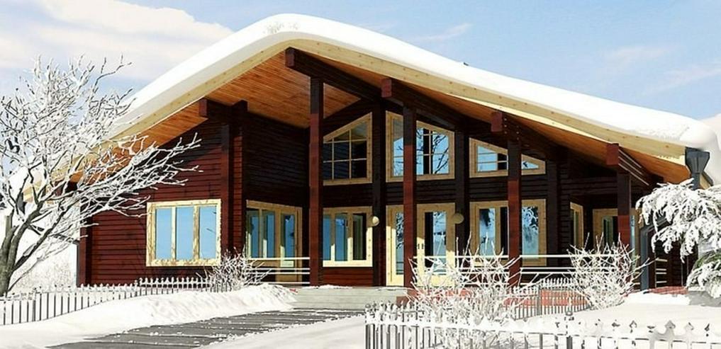 Blockbohlenhaus Wiking 138 m2 - Bild 1