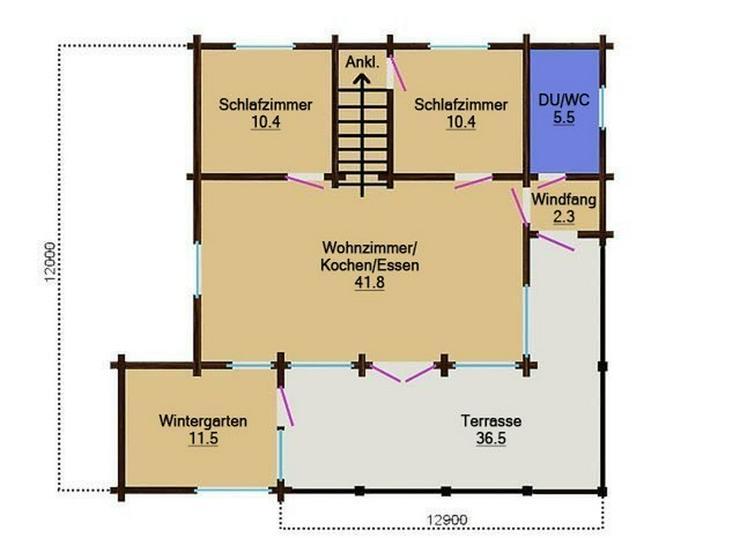 Bild 3: Blockbohlenhaus Wiking 138 m2