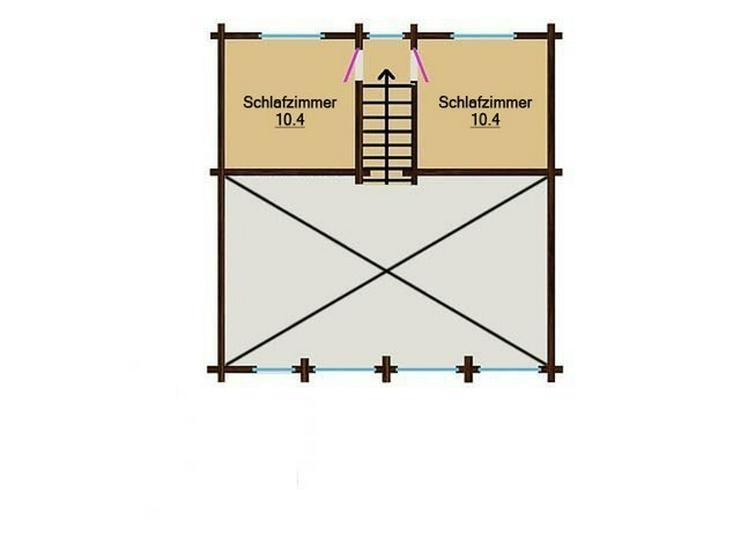 Bild 4: Blockbohlenhaus Wiking 138 m2