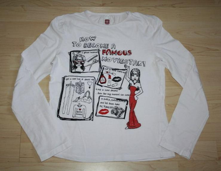 Mädchen Pullover Pulli Sweatshirt weiß 146/152 - Größen 146-158 - Bild 1
