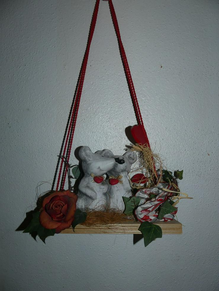Deko mit Mäusen und Herzen