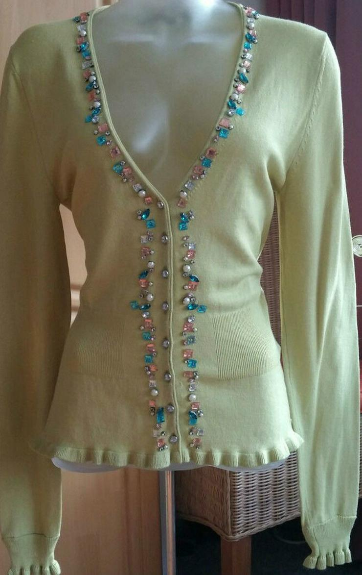Damen strick Jacke aus Seide+Wolle Gr.38
