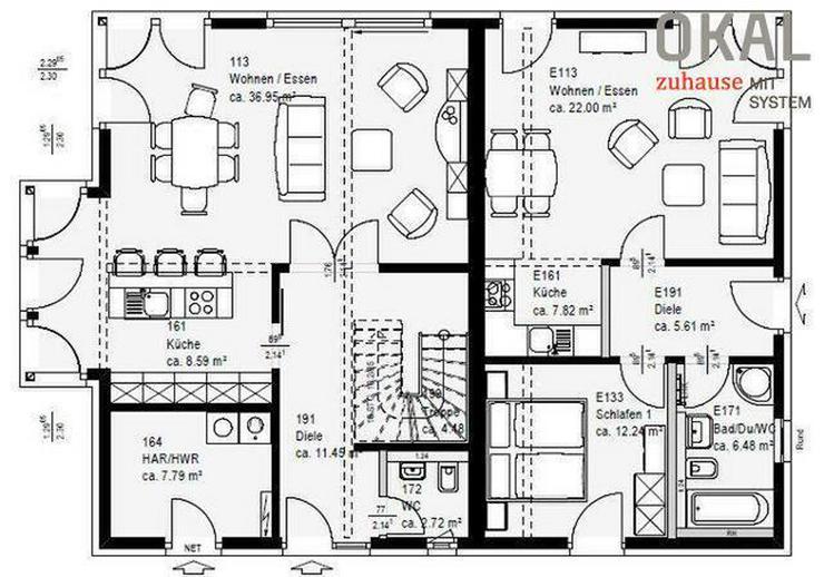 Bild 8: Drei große Schlafzimmer und viel Platz zum Wohnen!