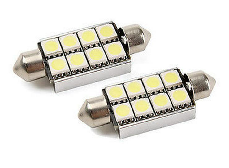 2 Stück: 42 mm Soffitte mit 8 Power Chip LED - Bild 1