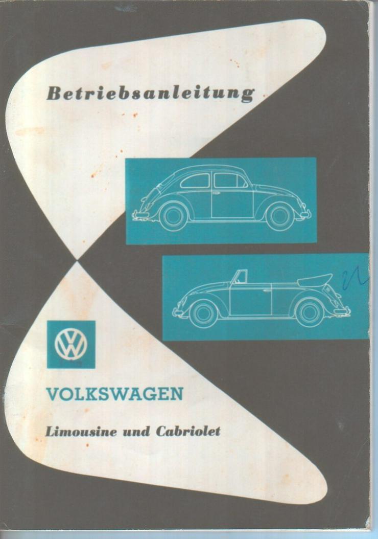 Betriebsanleitung VW Volkswagen 1961