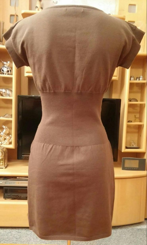 Bild 3: Damen Kleid Strickkleid Gr.S in brau NW