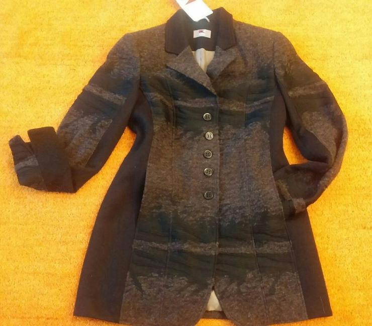 Damen Mantel Gehrock Wollmix Gr. 38 P.179,95#0x