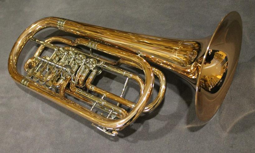 Cerveny Basstrompete 4 Ventile, Goldmessing - Blasinstrumente - Bild 1