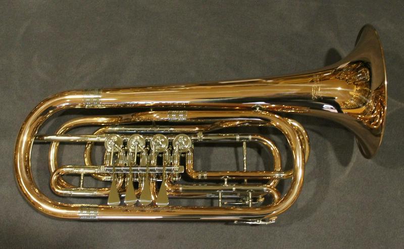 Bild 2: Cerveny Basstrompete 4 Ventile, Goldmessing