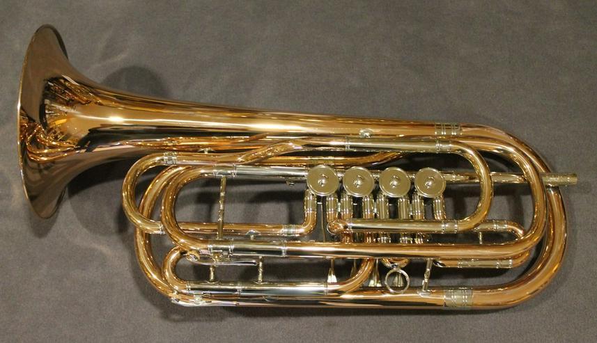 Bild 3: Cerveny Basstrompete 4 Ventile, Goldmessing