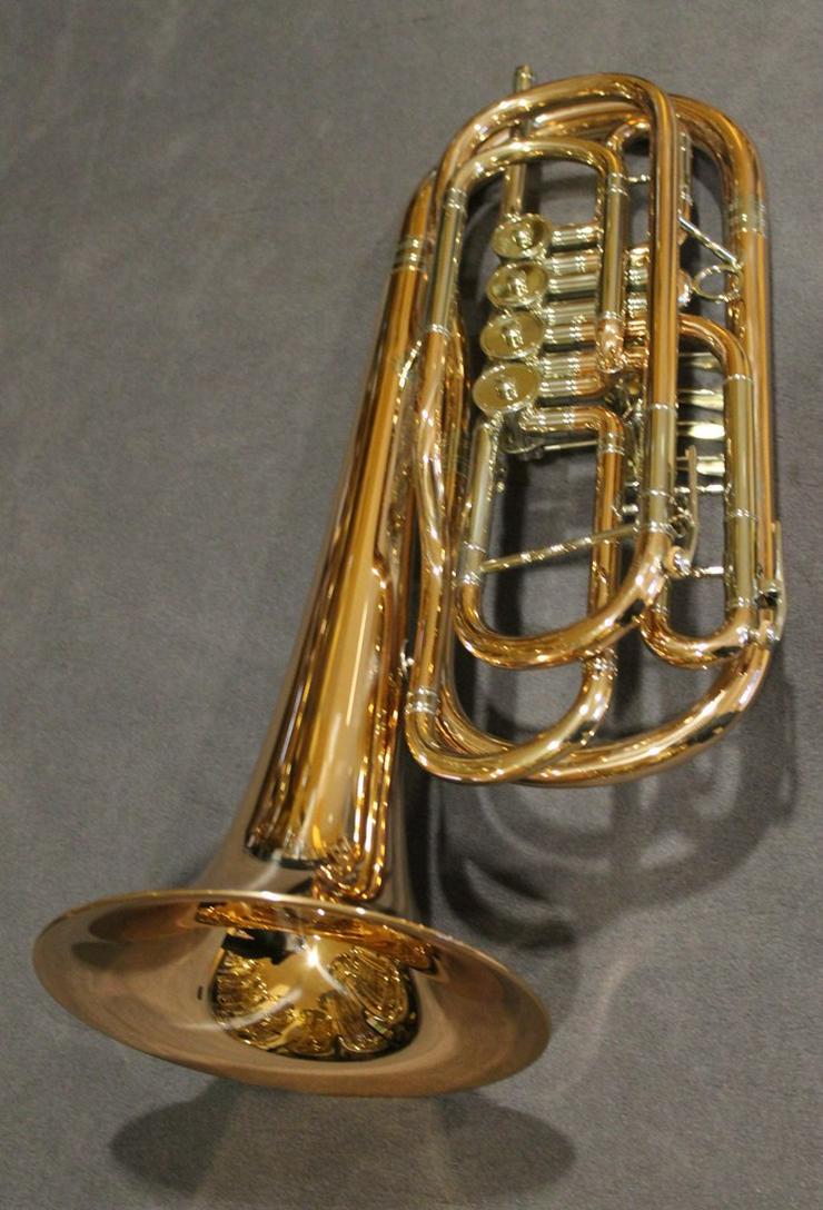 Bild 4: Cerveny Basstrompete 4 Ventile, Goldmessing
