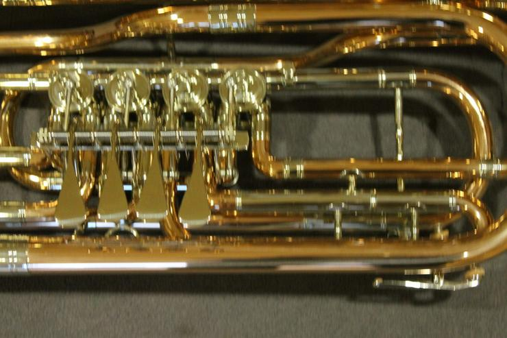 Bild 5: Cerveny Basstrompete 4 Ventile, Goldmessing
