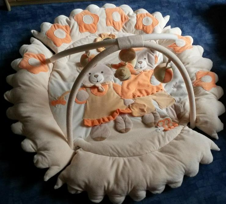 Activity-Decke Julian in beige-orange für Babys
