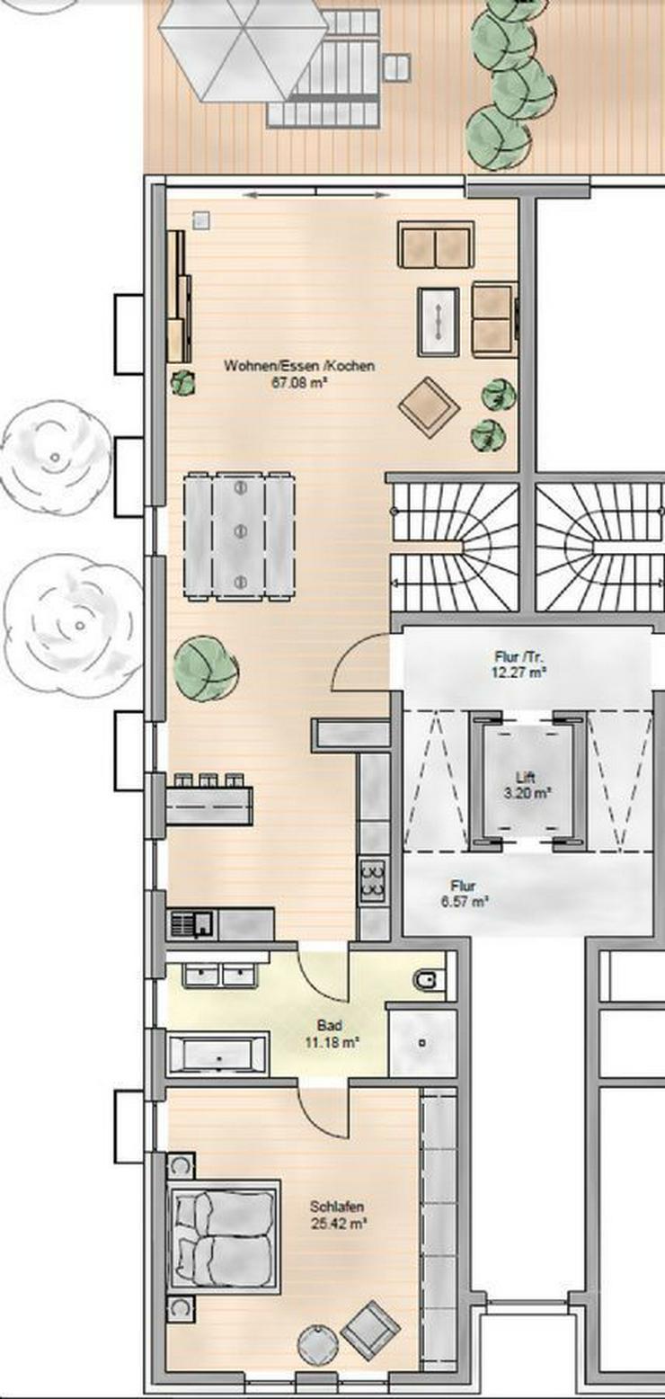 Bild 2: Stilvolle Neubau-Maisonette-Wohnung