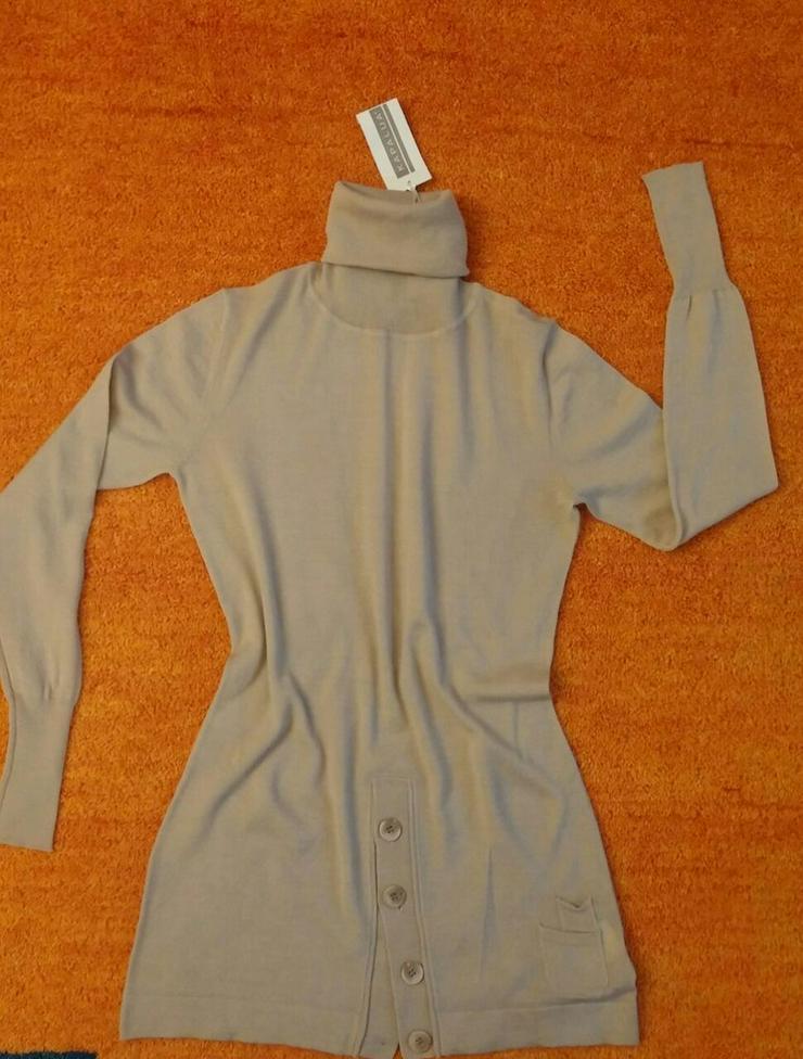 Neu Damen Pullover Woll Tunika Gr.S P.89,95#0xA