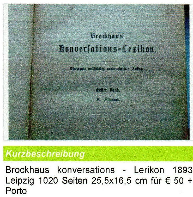 Brockhaus Lerikon v. 1893 für € 45 + Porto