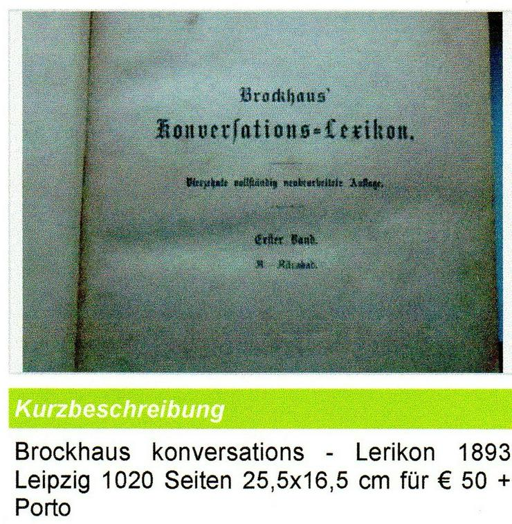 Brockhaus Lerikon v. 1893 für € 45 + Porto - Musik, Foto & Kunst - Bild 1